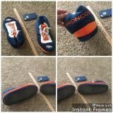 Denver Broncos tennis shoes style slippers in GUC no size but fits like a Men's 11/12 I think. $3.00