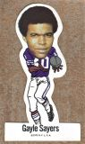 Gale Sayers Oddball Football 1972 NFLPA Vinyl Stickers #17 Unused No Creases