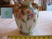 antique nippon morimura brothers vase 19th century nippon hand painted floral bo