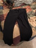 Maurice s stretchy black work pants