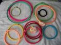 Lot Of 12 Plastic Embroigery Hoops