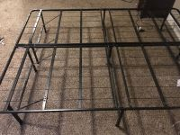 Queen high rising bed frame.