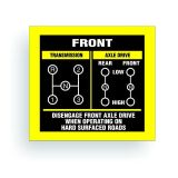 Find TRANSMISSION SHIFT PATTERN decal fits cj jeep 3 speed TWIN dana 20 AR030 motorcycle in Mentor, Ohio, United States, for US $9.98