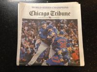 Chicago Cubs Champions Chicago Tribune 11/3 World Series Champs full newspaper