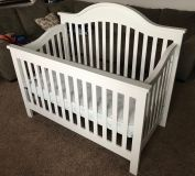 Brand New 4 N 1 Crib With Mattress Included