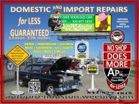 AutoPRO-Houston for Best Service and Best Price with Quality Parts.