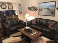 Expresso Brown couch & Love seat (Not Leather)