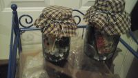 Antique Ball Ball Mason Jars With Vintage Sewing Items Inside