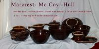 Mc coy /Hull / Marcrest brown drip stoneware
