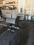 Olympic bench, bars and Weight/plate set