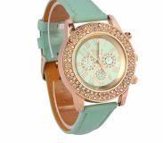 New meant green bling watch