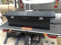 Low profile full size truck tool box
