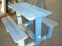 childrens solid wood picnic table