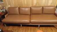 60s 8 ft leather sofa, asking 250 obo