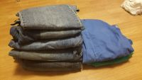 8 pairs size 18 jeans