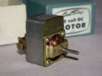 Original Vintage Kemtron 12 Volt Motor - New in Box - O
