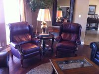 2 - Leather Incline Chairs