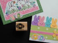 Stampin up wood rubber stamp DECORATED Happy Easter EGG