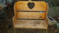 Solid Wood Cute Vintage Bench $30