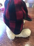 Baby Gap Wool Red & Black Plaid Hat With Ear Flap!! Sz s/m Toddler . Cross post