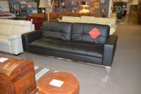 Leather Click Clack Sofa Bed