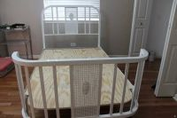 White Antique 3/4 Bed