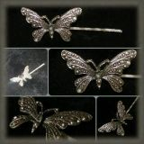 Antique Butterfly Hairpin