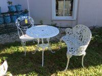 Cast Bistro Set with Table, Chair and Loveseat