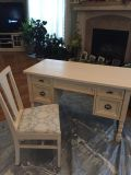 Vintage Distressed Desk With Chair