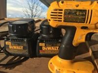 Dewalt drill with 2 batteries/ 2chargers