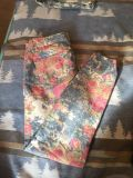 Rue21 Multicolor floral jeans 3/4 (fits more like 5/6 imo)