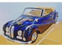 1/18 1955 BMW 502 Black Convertible w/Airbrush Design