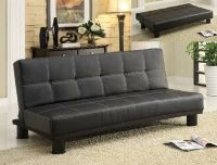 SALE! ALL MUST GO! BLACK RETRO SOFA BED / FUTON / NEW!