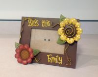 3D SELF STANDING WOOD AND METAL PICTURE FRAME