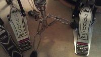 DW 9000 Series Double Bass Drum Pedal with eXtended Footboard  Case