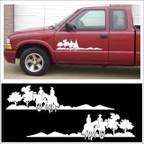 Find Decal kit COWBOY TRAIL RIDER set for farm stable truck or horse trailer WHITE motorcycle in Mentor, Ohio, United States, for US $22.98