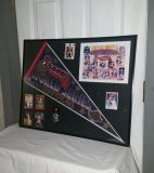 Braves Poster 22 by 28. 1995 Champions World Series. 8 by 10 team reprint picture. Braves Pendent. 7 cards listed in discription. $20
