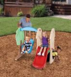 Child swing and slide set