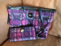 Coach plaid purse and wallet