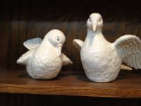 Pair of ceramic doves for sale