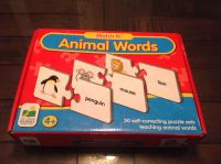Match it! Animal words puzzle