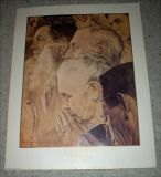 "Norman Rockwell - ""Freedom to Worship"" - Vintage Print - No. 11954 - 1990"