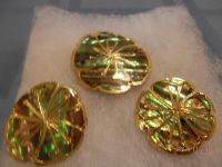 GOLD TINGED ABALONE - PIN & HINGED EARRINGS