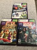3 games xbox 360 Kinect