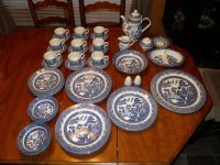 Churchill England Blue Willow Dishes(50 Pieces)NEED GONE TODAY