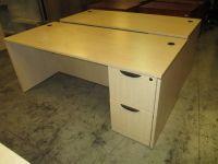 4 Maple L Shaped Office Desks RTR#7064906-05