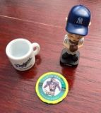 baseball bobble head and extras