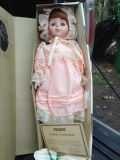 Porcelain doll. New inbox. 1989 Limited addition