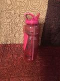 Lg Pink Water Bottle w/ nonslip Rubber Inlay Swap Only