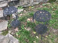 Two rod iron plant stands